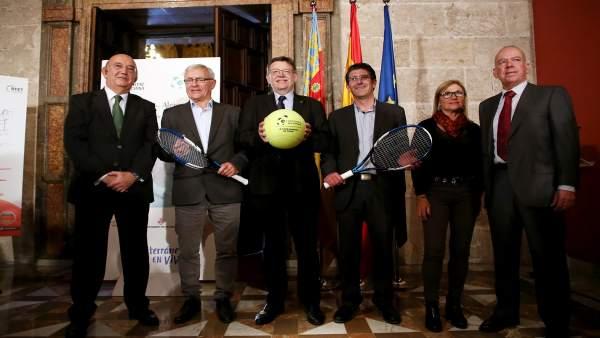 Presentación de los cuartos de la Copa Davis en València
