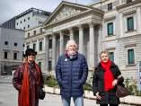 Soledad, Bernado y Toñi, tres pensionistas.