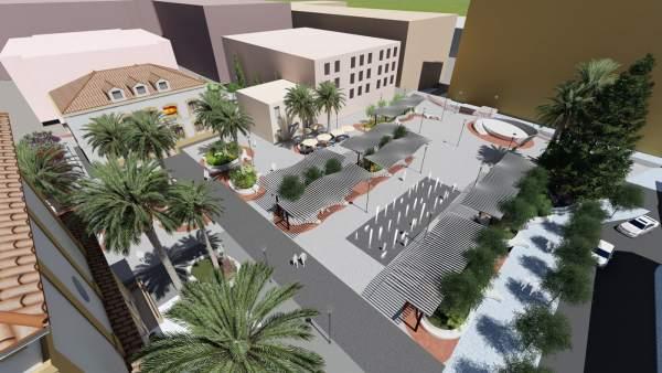 Proyecto de remodelación de la plaza de la Iglesia de San Pedro. Marbella