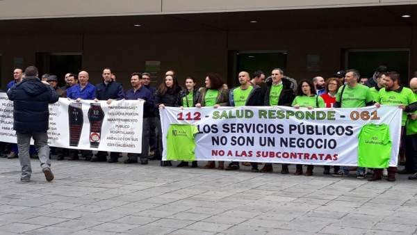 Concentración de 'Jaén por su salud'