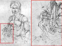 Así se camufló Miguel Ángel en un boceto a su mejor amiga