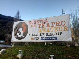 Cartel de la Muestra de Teatro Amaterur de Biescas