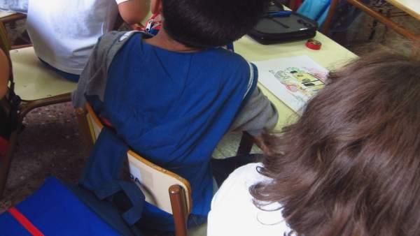 Alumnos, infantil, colegio, guardería, aula, clase