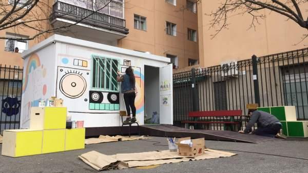 Proyecto Radio Patio Irratia en el colegio García Galdeano de Pamplona.