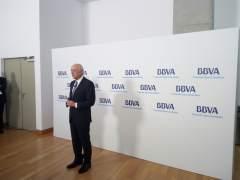 Francisco González en la Junta del BBVA en Bilbao