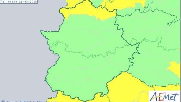 Activada la alerta amarilla por nevadas en el Norte de Cáceres