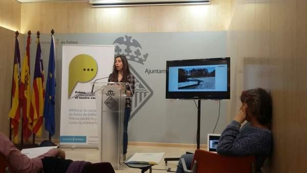 Neus Truyol, presidenta de Emaya en rueda de prensa