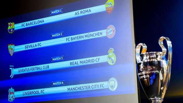 Sorteo de cuartos de final de Champions 2018: Juventus - Real Madrid ...