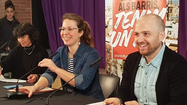 Mireia Valls, Janet Sanz y Suso López.