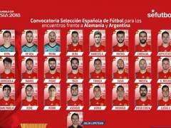 Lista de la selección española: Morata fuera