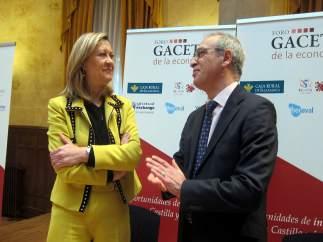 Pilar del Olmo junto al director de La Gaceta de Salamanca, 16-3-18
