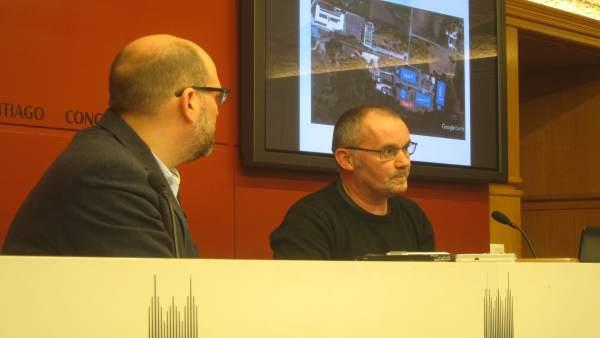 El alcalde de Santiago, Martiño Noriega, y Xan Duro presentan proyecto Edar