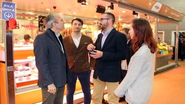 Azcón con los responsables de la app miZesta.Com