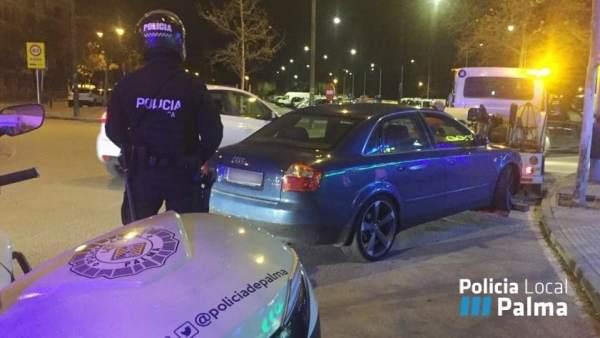 Un control del GAP de la Policía Local de Palma