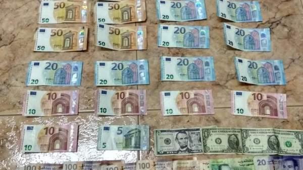Dinero incautado al grupo desarticulado en Crevillent