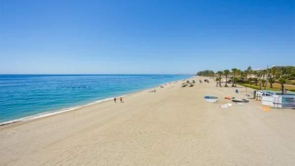 Playa del municipio de Roquetas de Mar