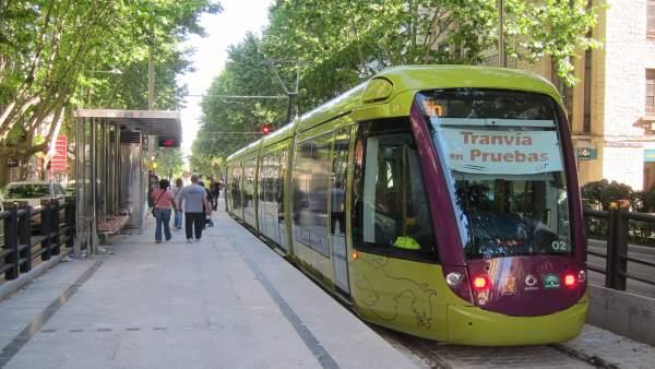 Tranvía De Jaén En La Fase De Pruebas