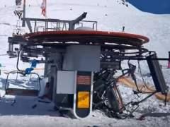 Ocho heridos por un telesilla fuera de control en una estación de esquí