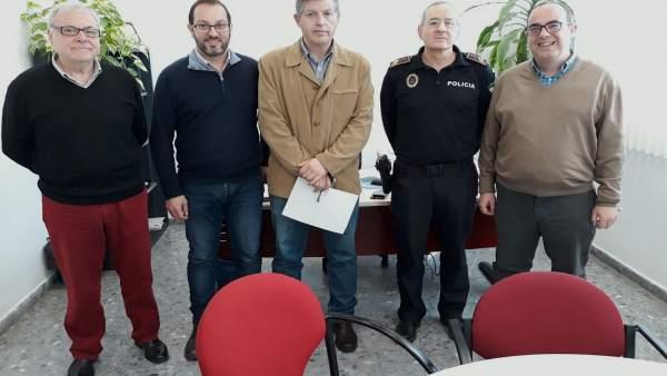 David Luque y Emilio Aumente en la toma de posesión del subinspector de Policía