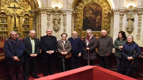 Responsables del Cabildo, de Tressis y de las Cáritas parroquiales en el acto