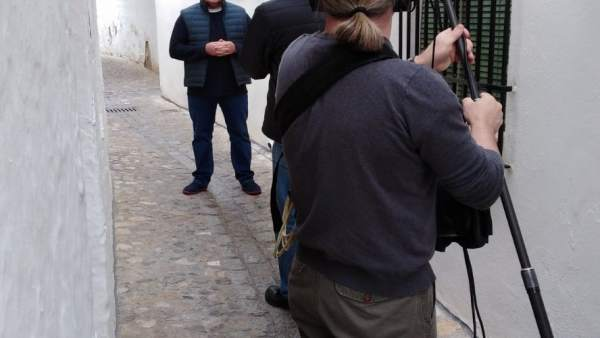 Neven Maguire durante la grabación