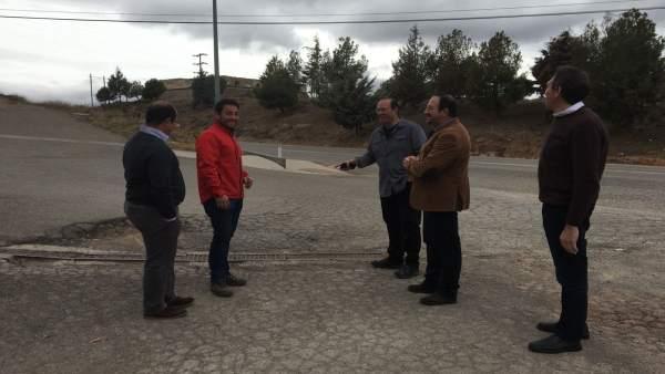 Visita del presidente de la DPT a Mora de Rubielos