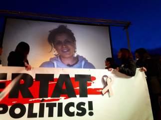Video de Anna Gabriel en un acto de Òmnium y ANC en Barcelona.