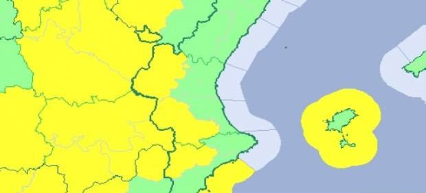 Chubascos dispersos y bajada de las máximas en un sábado con avisos por viento en Valencia y Alicante