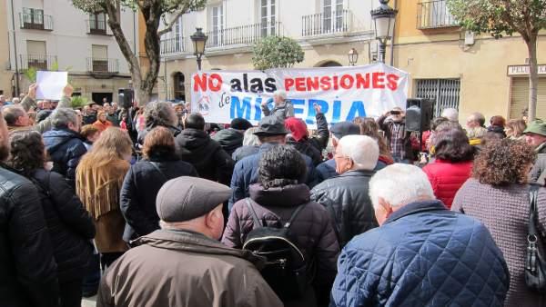 Concentración Coordinadora Rioja por la defensa de las pensiones