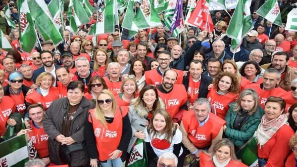 PSOE manifestación pensionistas Málaga