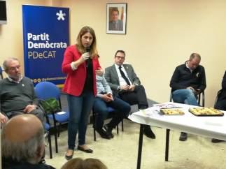 La coordinadora general del PDeCAT, Marta Pascal, en Mollerussa (Lleida)
