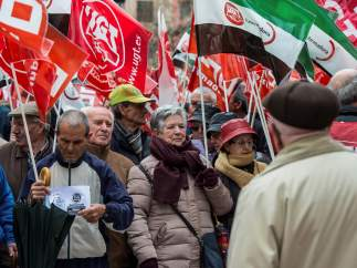 Manifestación de las pensiones en Extremadura