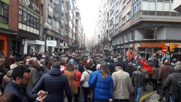 Manifestación en defensa de las pensiones.