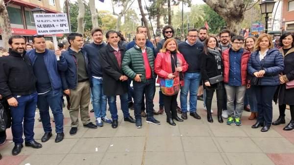Diego Conesa en la manifestación por las pensiones