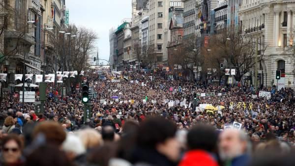 Marchas de los pensionistas en toda España