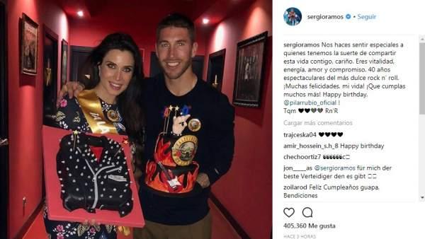 La felicitación de Sergio Ramos a Pilar Rubio por su 40 cumpleaños
