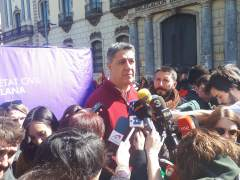 Xavier Garcia Albiol en declaraciones a los medios de comunicación.
