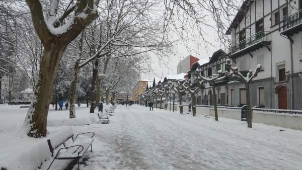 Nieve en Barakaldo