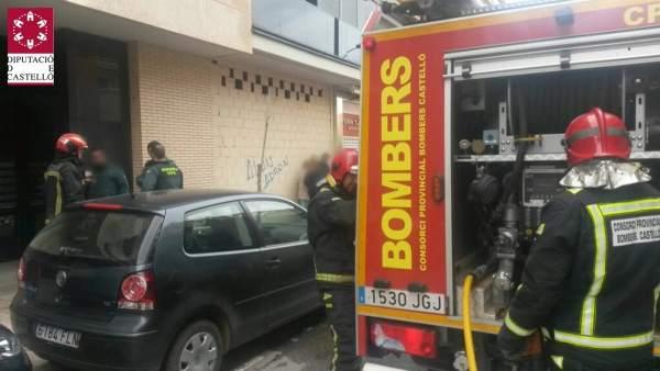 Incendio en una vivienda de Benicarló