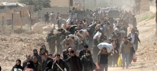Más de 9.300 civiles abandonan Guta Oriental