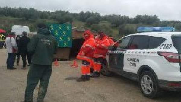 Búsqueda de motorista desaparecido en Martos (Jaén)