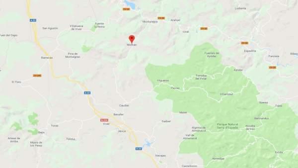 Localización de Montán (Castellón)