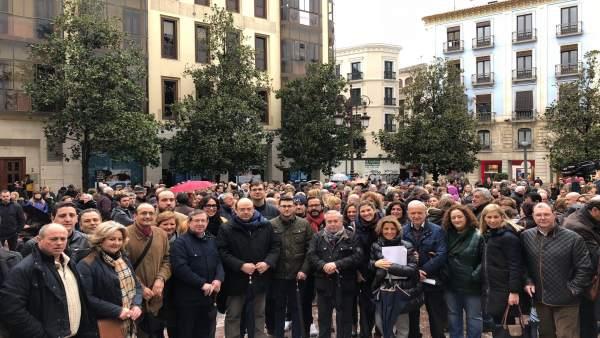 Concentración a favor de la prisión permanente revisable en Granada