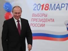 Putin arrasa en las presidenciales y es reelegido con más del 70% de los votos