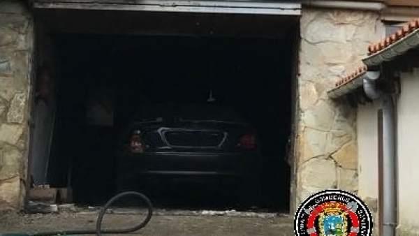 Incendio en un garaje