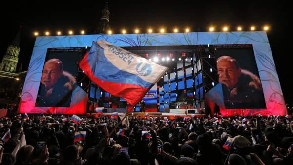 Putin, reelegido presidente de Rusia