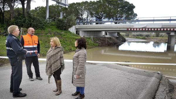Alcaldesa de Jerez visita inundaciones zon rural