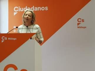 Isabel Albás de Cs en rueda de prensa en Málaga