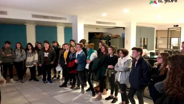 Jóvenes de Llucmajor visitan el área de Movilidad