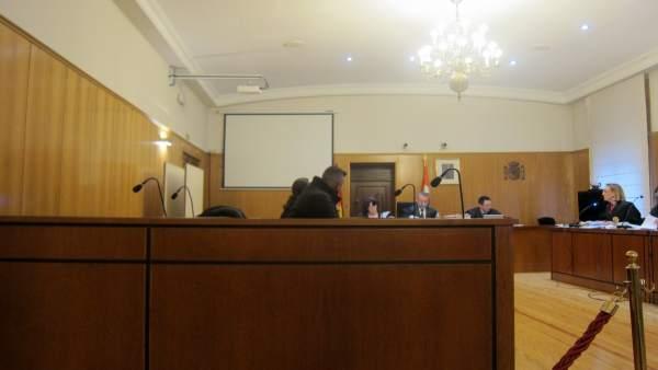 El acusado, durante el juicio en la Audiencia de Valladolid